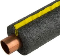 Self sealing foam pipe insulation in Penticton.