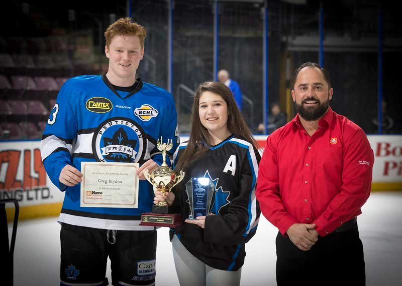 Penticton Vees Academic Award presented by Penticton Home Hardware.