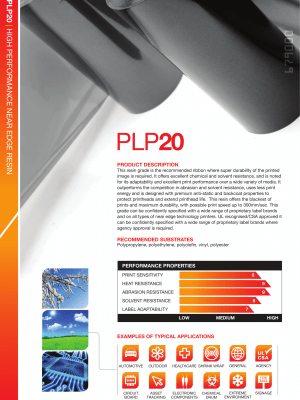 PLP20 Premium Resin Scratch & Chemical Resistance