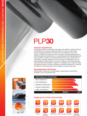 PLP30 Premium Resin High Speed & Durable For Coding