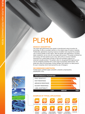 PLR10 High Performance Resin Folie