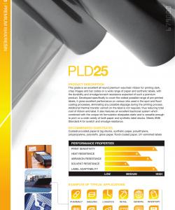PLD25 Premium Wax Resin Folie