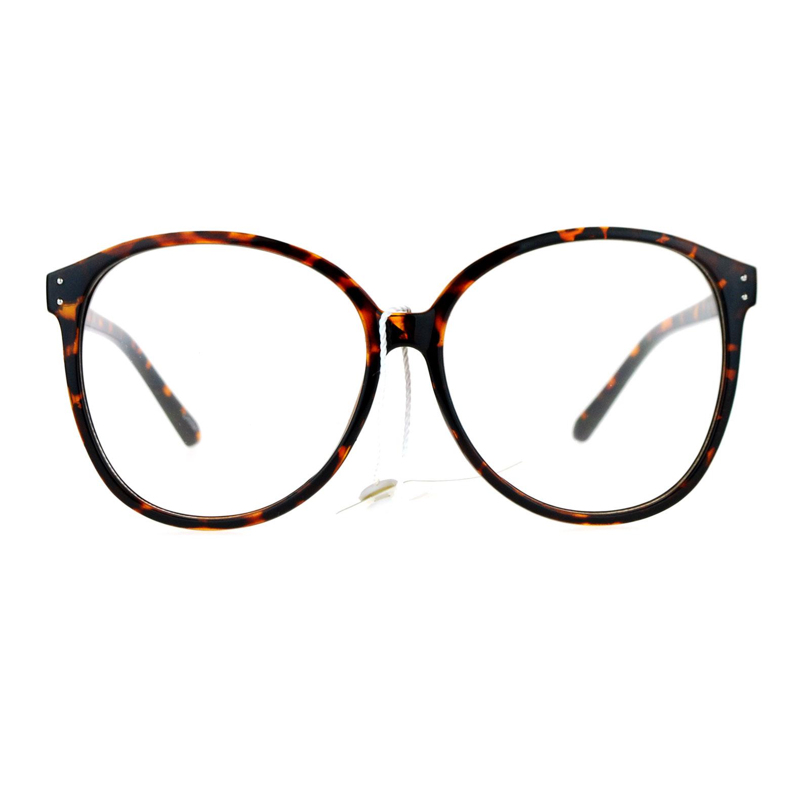 Sa106 Womens Oversize Manga School Girl Nerdy Eye Glasses
