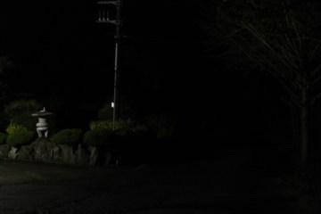 After the onsen hotel's lights were shut.
