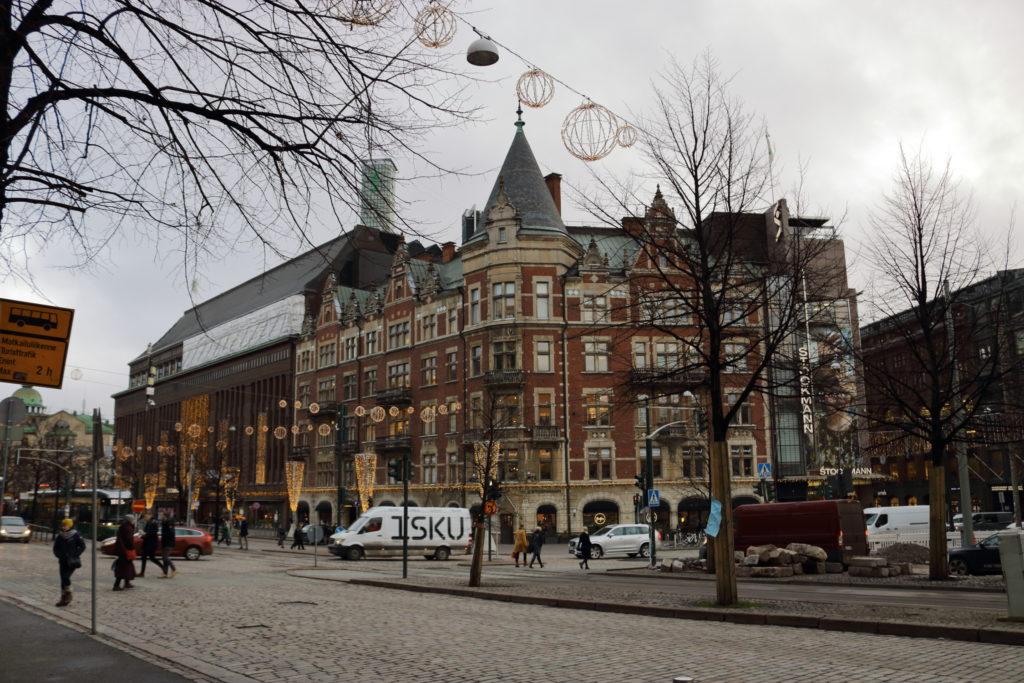 Street view of an old building in Helsinki