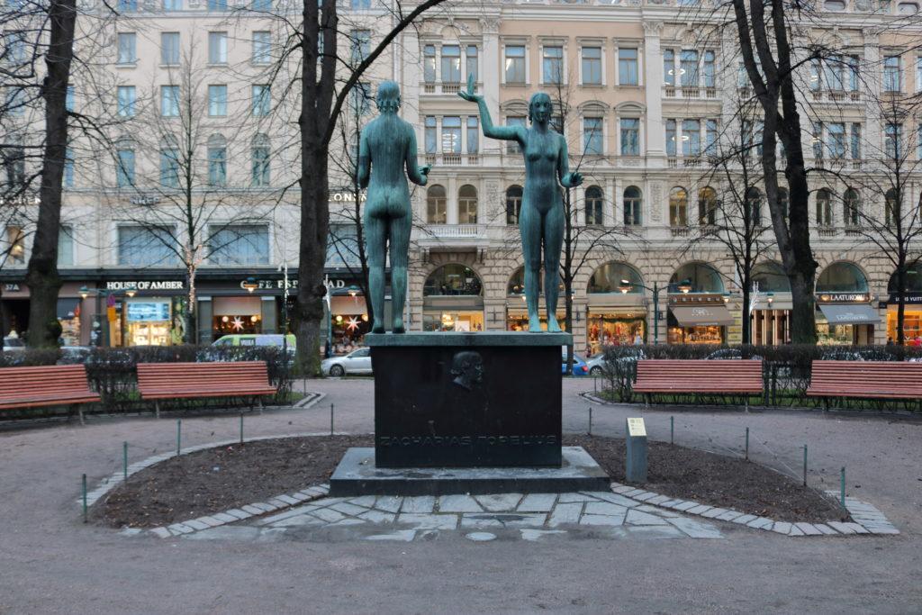 """""""Taru ja Totuus"""" brass statue dedicated to Zacharias Topelius"""