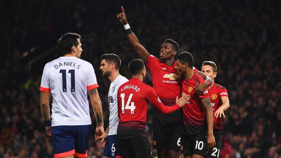 Pertandingan Manchester United vs Bournemouth Skor 4-1