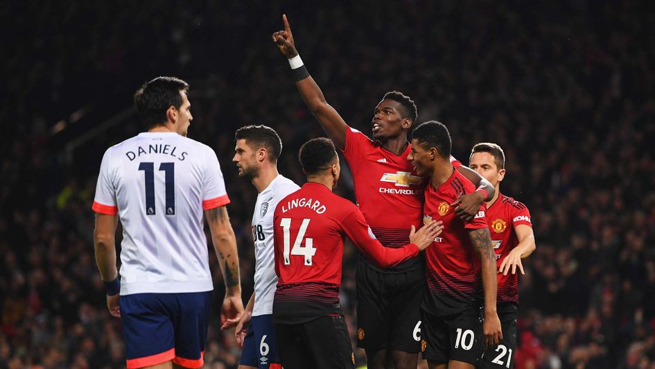 Pertandingan Manchester United vs Bournemouth Skor 4-1