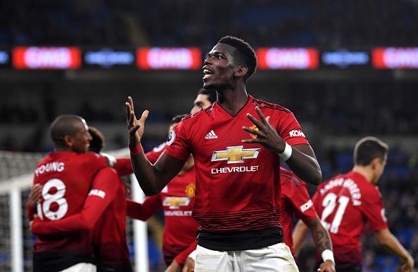 Hasil Kemenangan Cardiff City vs Manchester United skor 1-5
