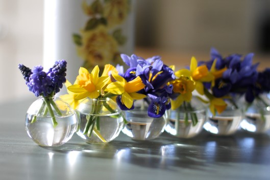 Spring Flowers In Bubble Vase