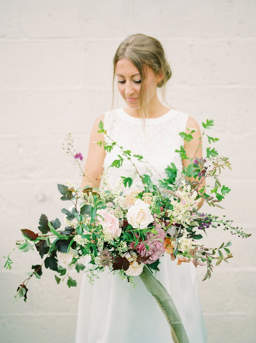 bouquet making with the garden gate flower company