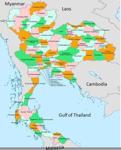 List Provinces Thailand