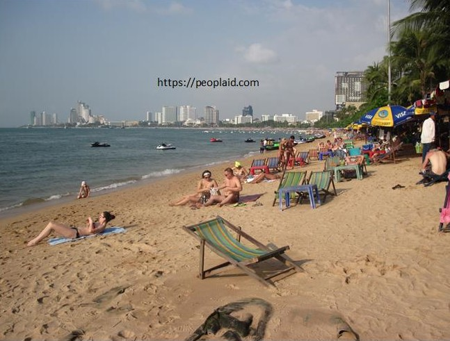 Jomtien Beach in Chonburi Province