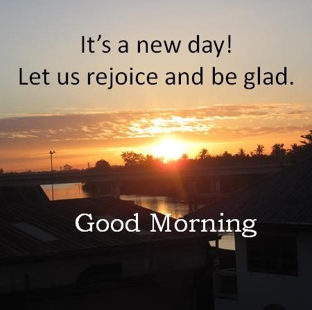 It's a new day.