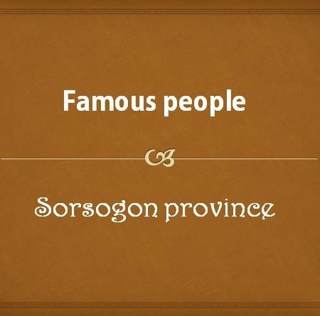 Famous people from Sorsogon