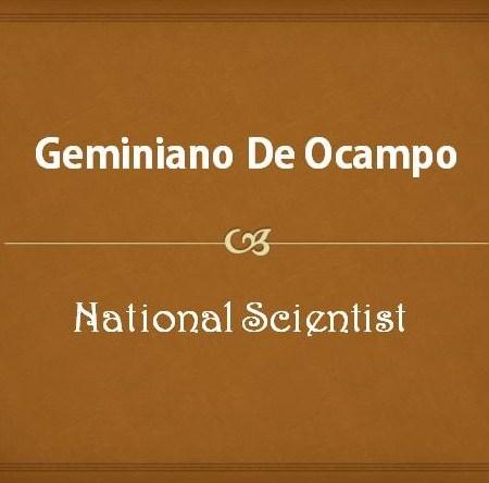 Geminiano De Ocampo
