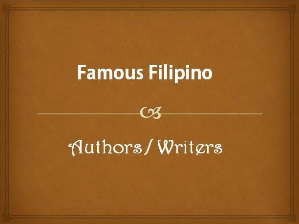 Famous Filipino Authors
