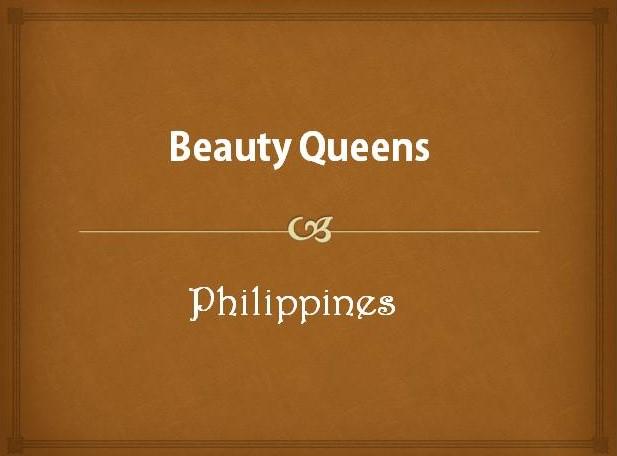Famous Filipino Beauty Queens