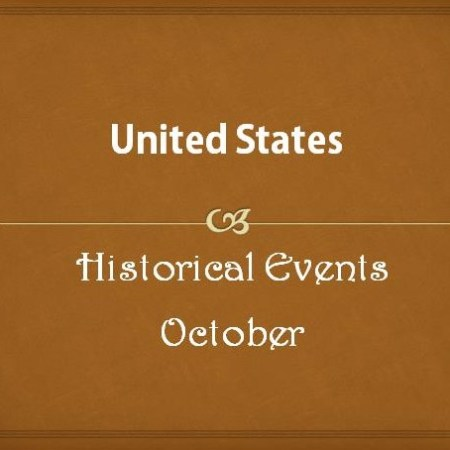 US Historical Events in October