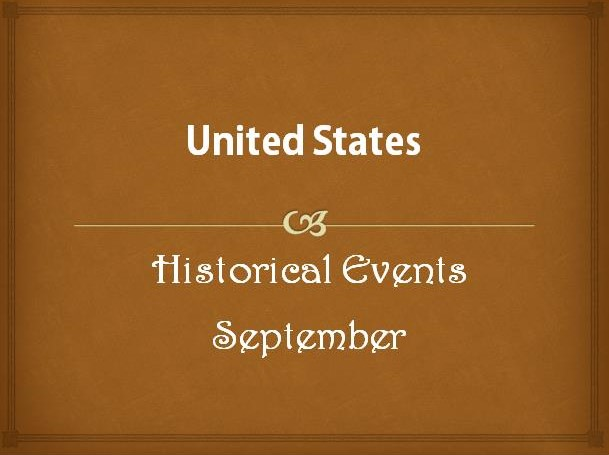 US Historical Events in September