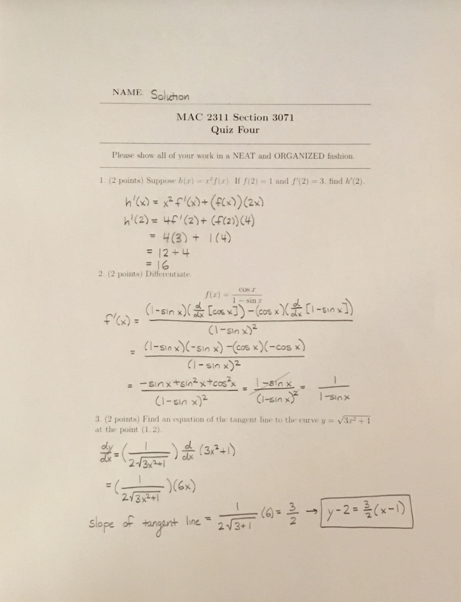 Spring Macytic Geometry And Calculus 1