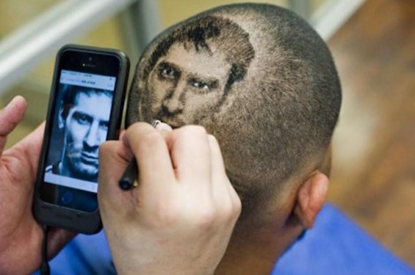 portret scheren