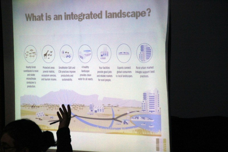EcoAgriculture Partner's Seth Shames describes to policymakers how integrated landscapes work and what potential they carry for achieving the SDGs.