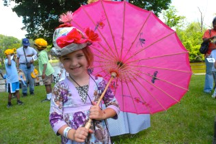 Hat and Bonnet Parade at Log Cabin Day.