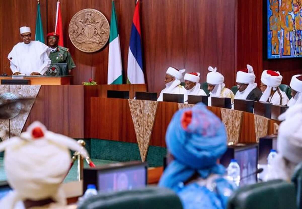Buhari's-meeting-with-Northern-traditional-rulers
