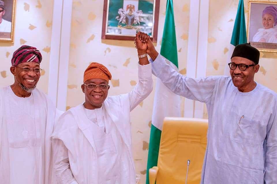 Fulfil-your-campaign-promises,-Buhari-tells-Oyetola-at-65