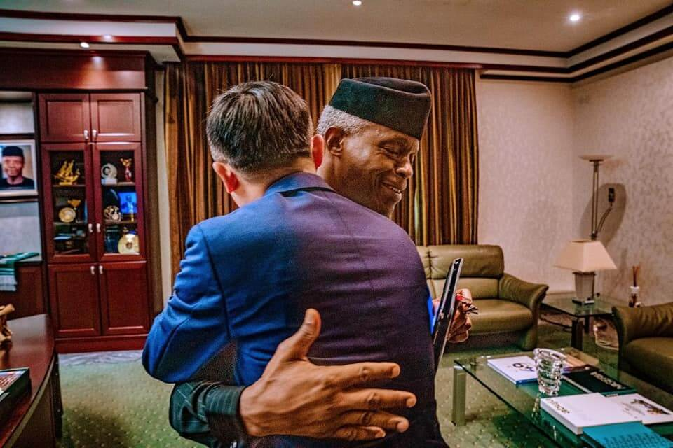Jack-Ma-in-warm-embrace-with-Osinbajo