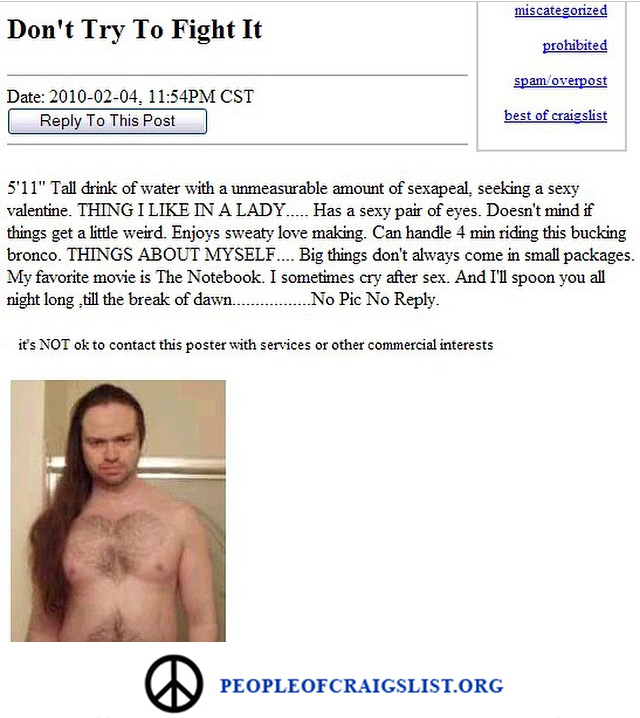 Look at this Valentines day craigslist beauty