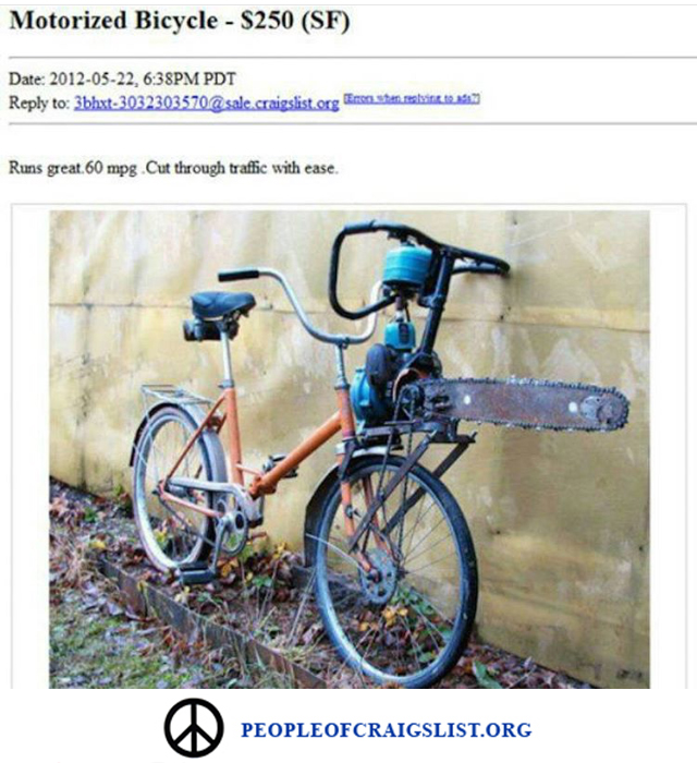 Motorized bike craigslist