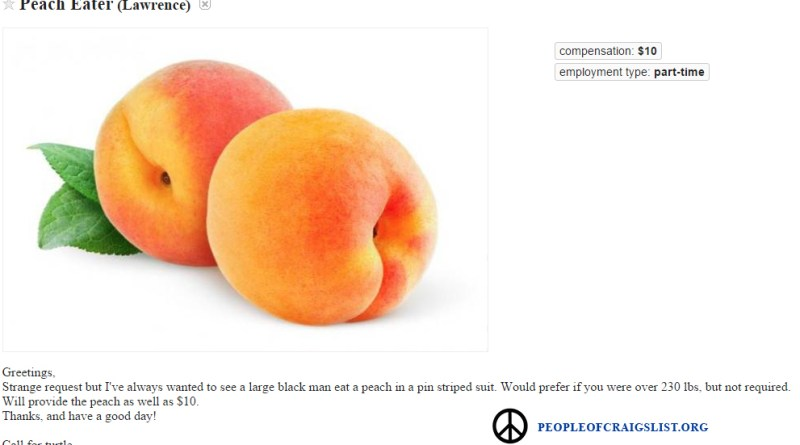 Craigslist Peach Eater