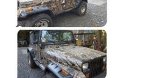 Craigslsit Jeep Wrangler camouflage troll
