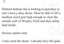 Curse of the billy goat on craigslist