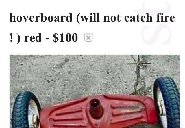 craigslist hoverboard that will not catch fire