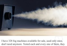 Fog Machine Patriots cheating on craigslist