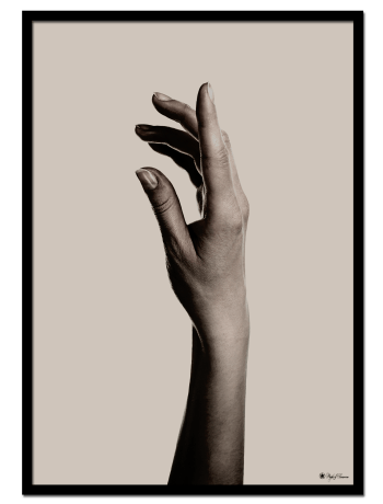 Hand #2 poster | Beautiful poster of a hand on beige background.