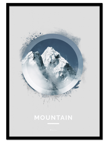 Mountain poster   Nature poster of a snow-covered mountain.