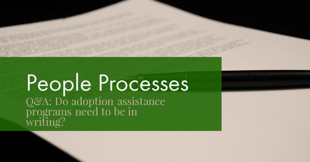 People processes adoption assistance program