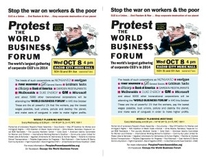 Protest the World Business Forum