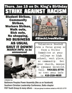 strike against racism flyer