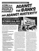 Detroit IInternational People's Assembly Oct 5 -6