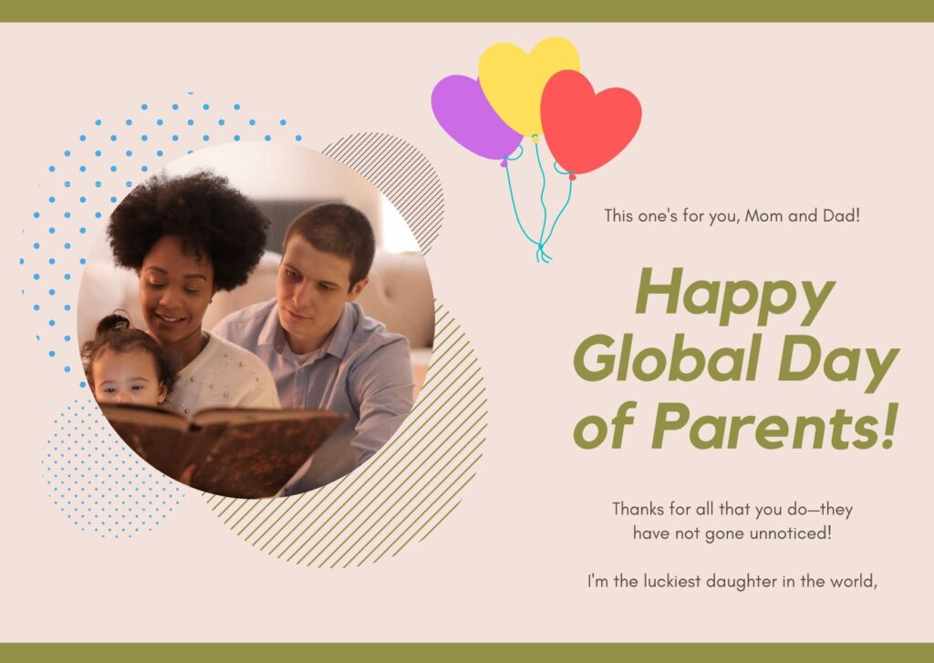 Happy Parents Day Greetings Card