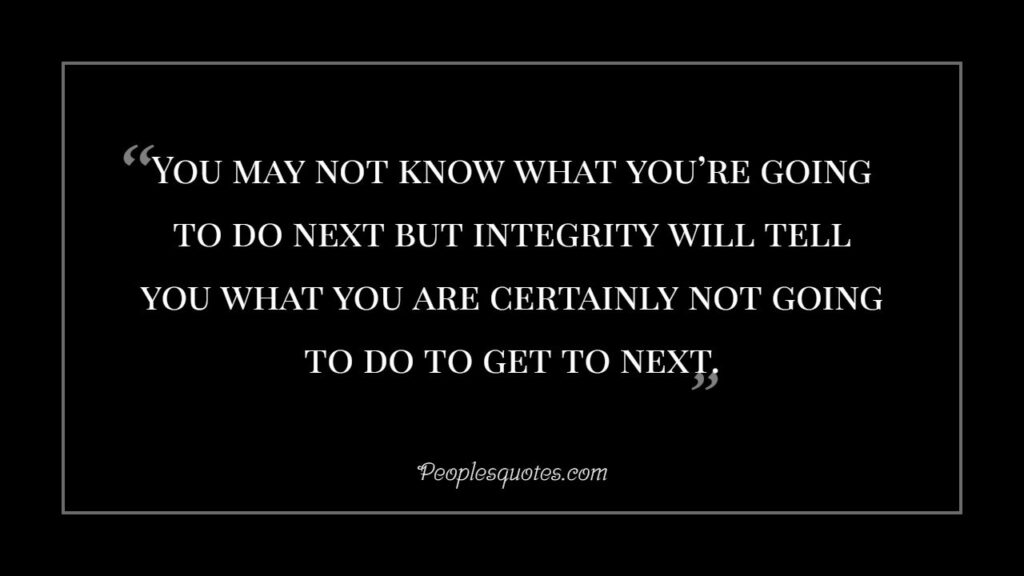 integrity will help you from wrongdoing