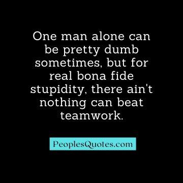 Sarcastic stupidity quotes