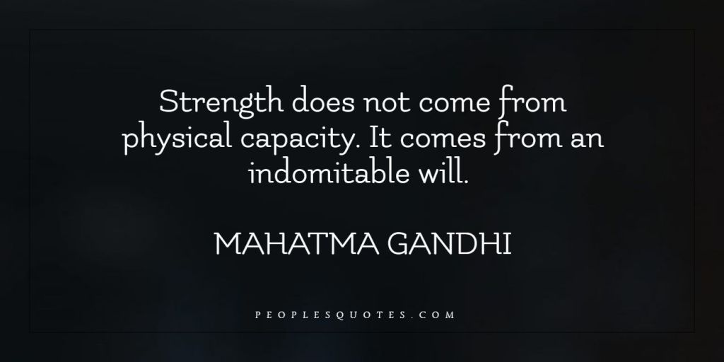 Strength and will quotes