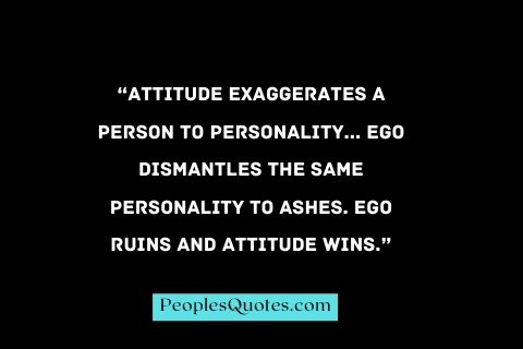 Personality Attitude quotes