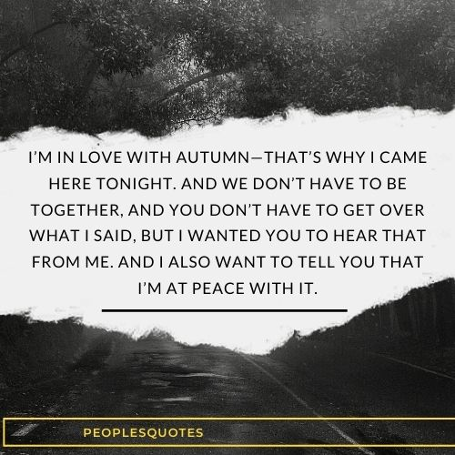 I'm in love with autumn quotes
